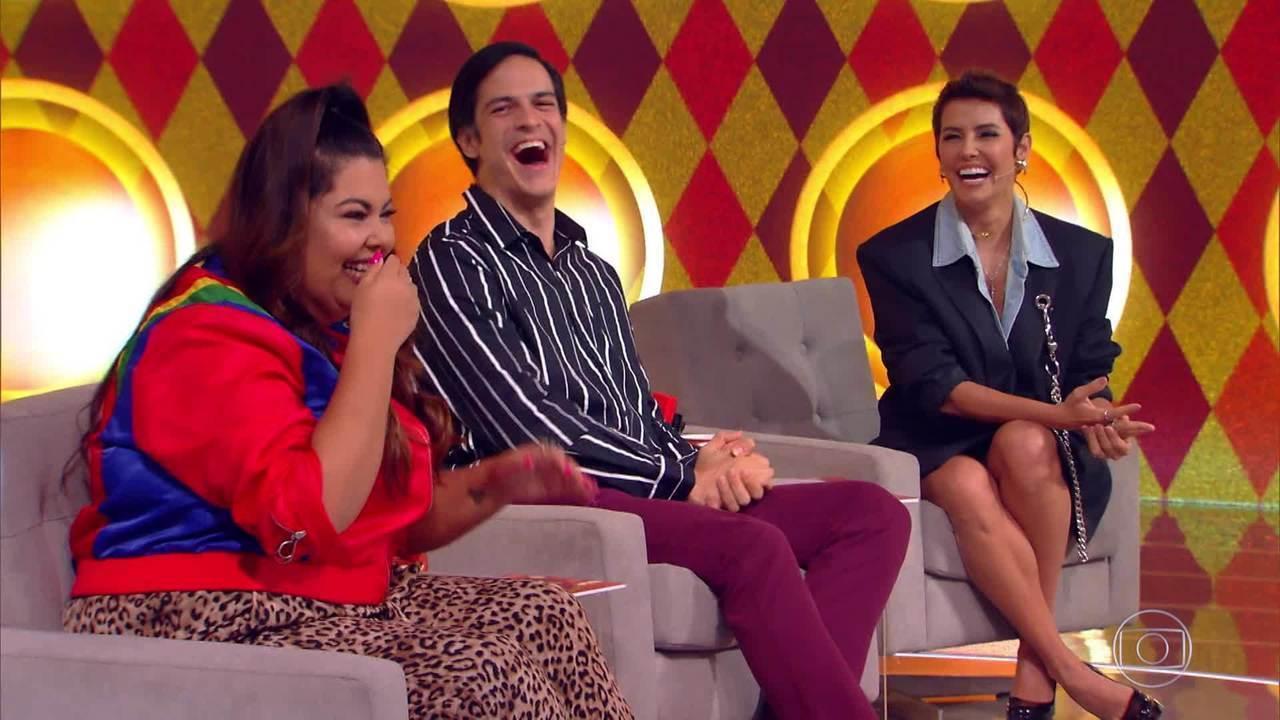 Fabiana Karla, Mateus Solano e Deborah Secco são os jurados da semana do 'Gonga La Gonga'