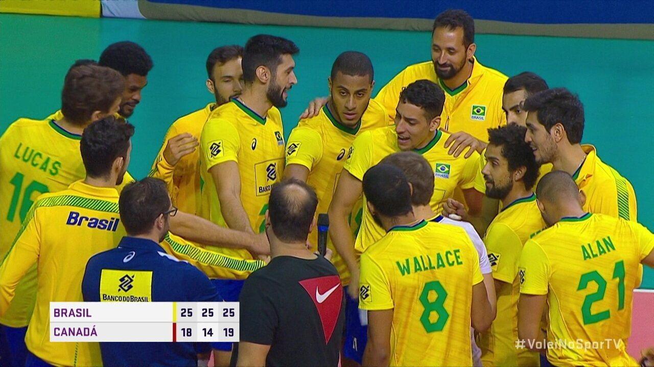 Melhores momentos: Brasil 3 x 0 Canadá pelo Amistoso Internacional de Vôlei