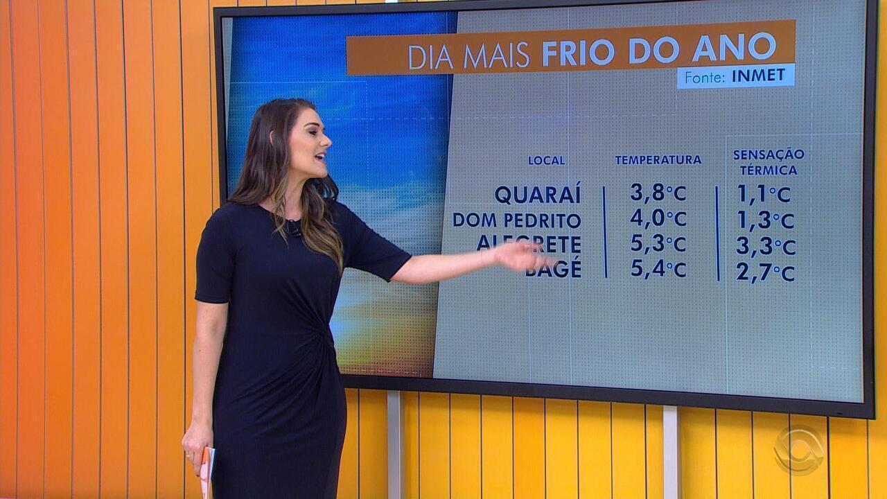 Cidades do RS tem dia mais frio do ano neste sábado (25)