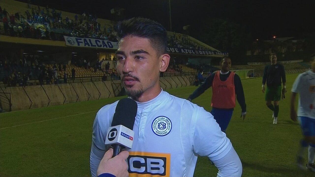 Após marcar primeiro gol como profissional, Oya fala da sua estreia no São Bento