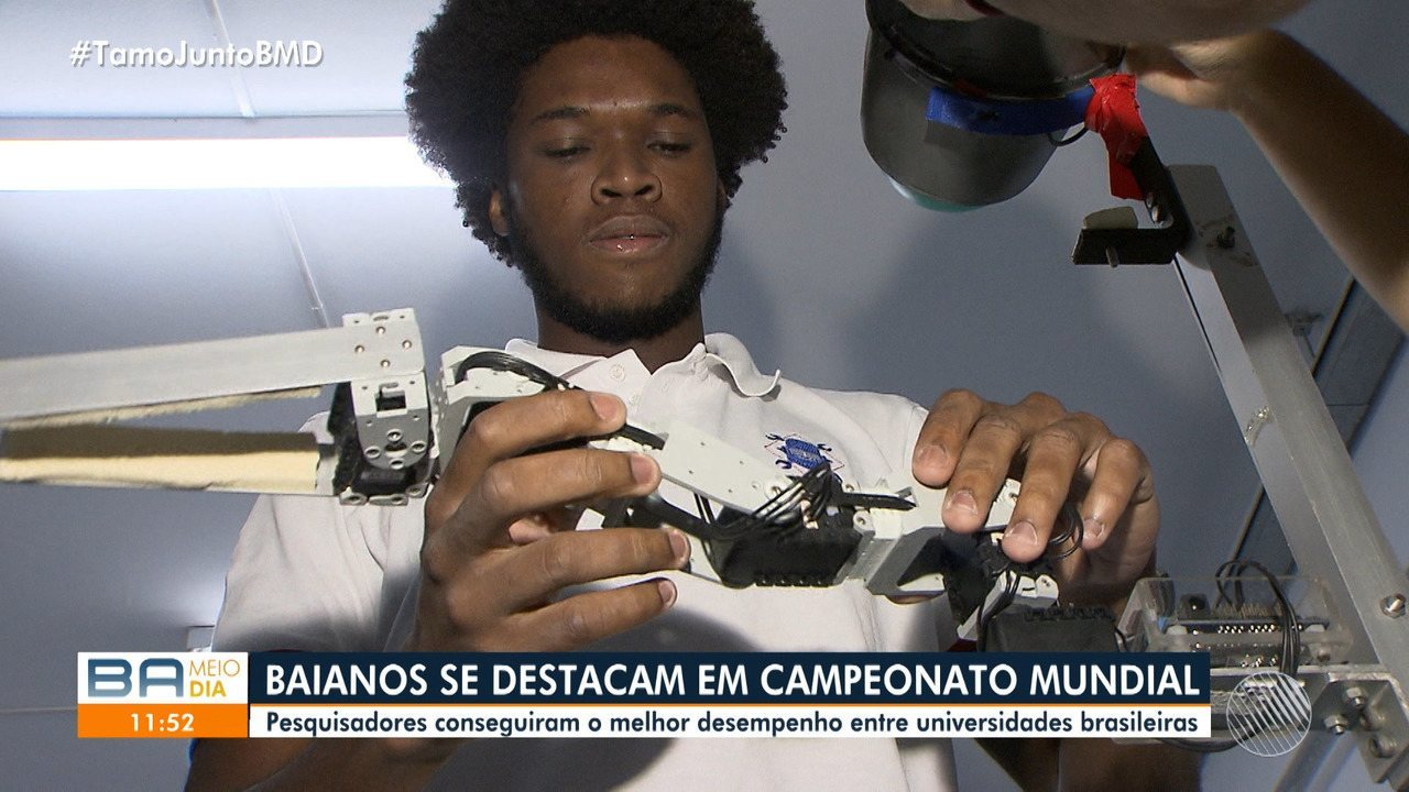 Baianos se destacam em campeonato mundial de robótica