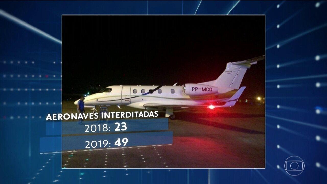 Aumenta número de aeronaves interditadas por transportar passageiros irregularmente