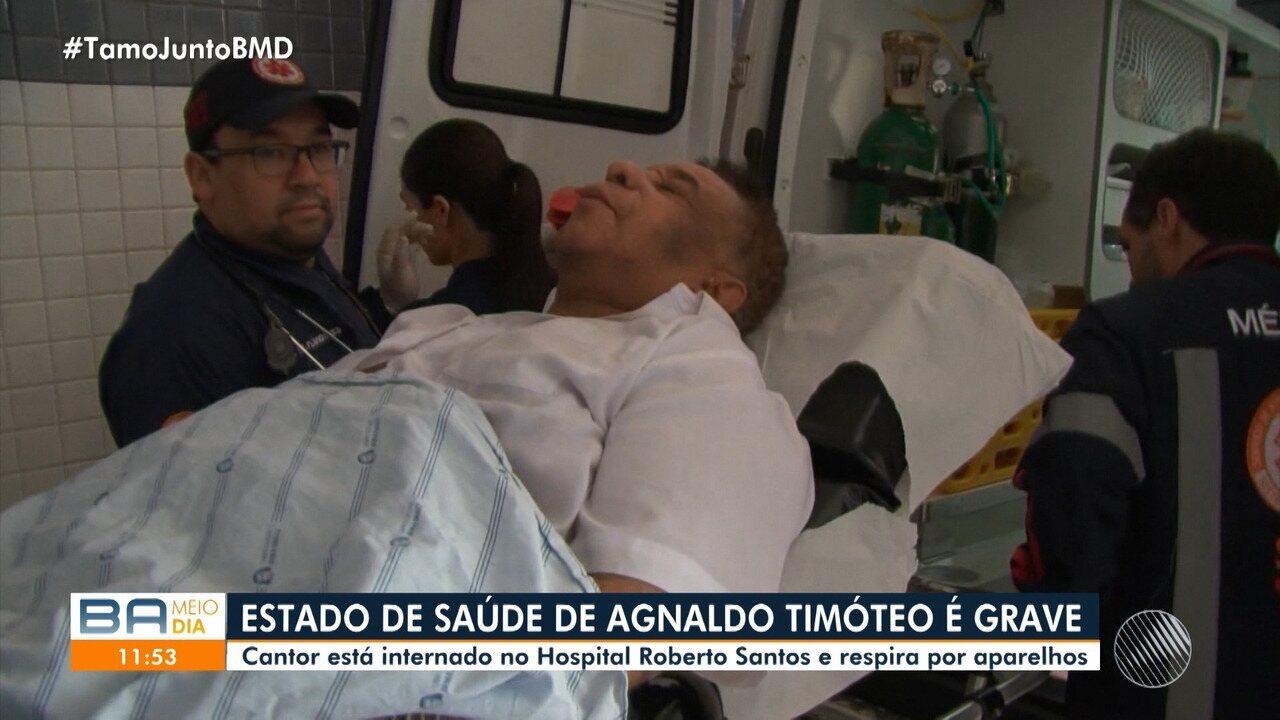 Agnaldo Timóteo está internado no Hospital Roberto Santos