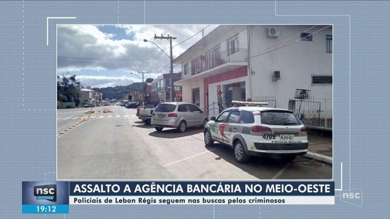 Polícia faz buscas por criminosos que assaltaram agência bancária em Lebon Régis