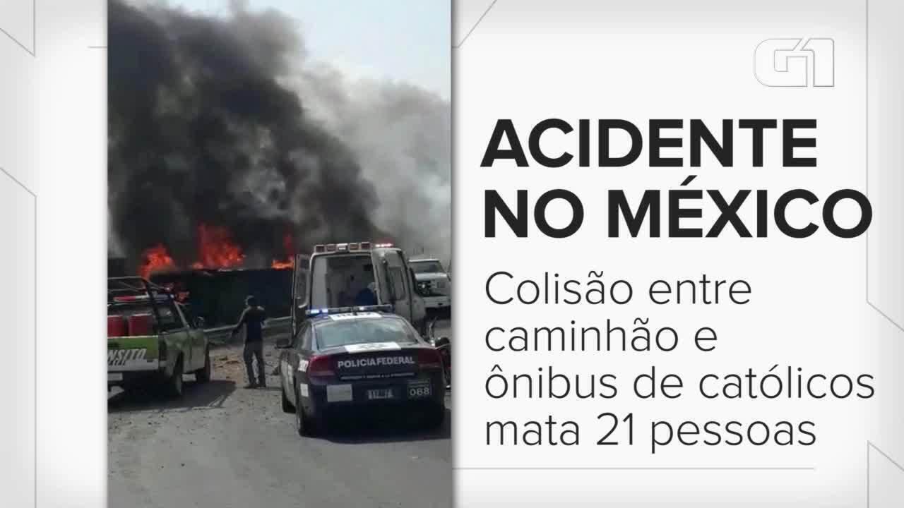Colisão entre caminhão e ônibus de católicos mata 21 no México