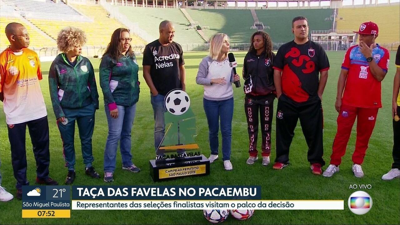 61af8793343b6 Bom Dia SP | Finalistas da Taça das Favelas visitam o Pacaembu, palco da  decisão | Globoplay