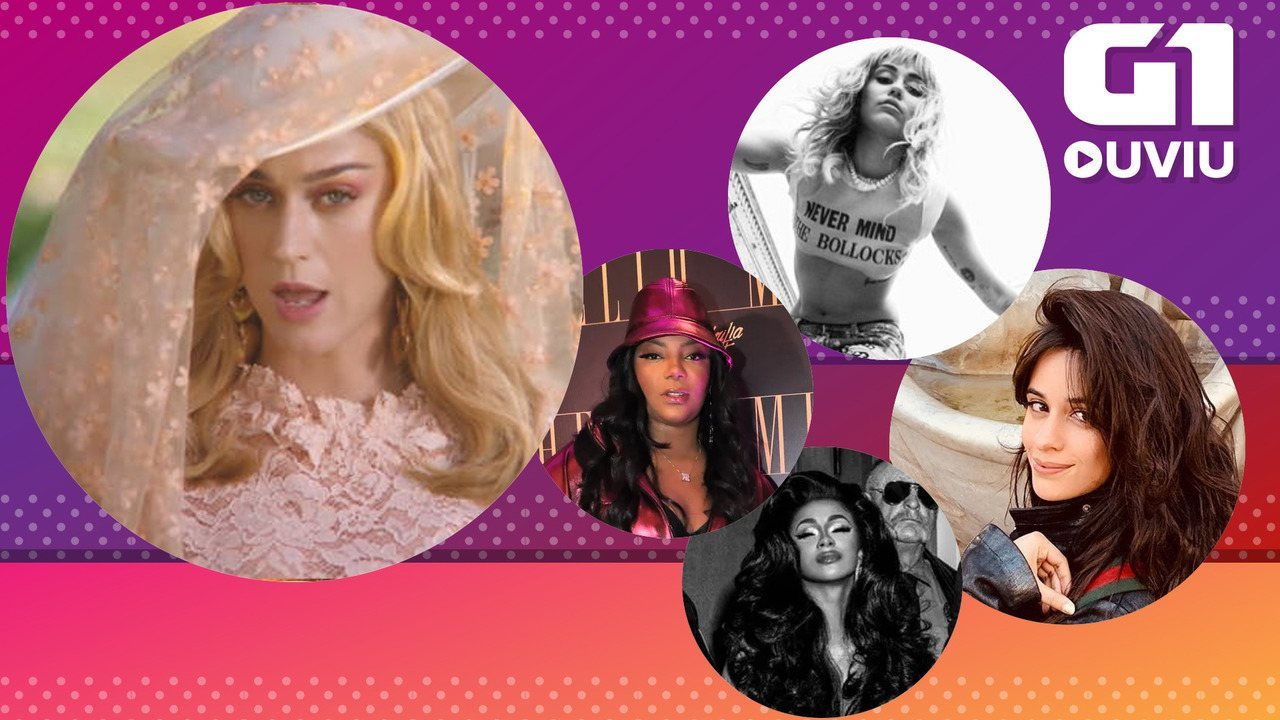 Katy Perry, Miley Cyrus, Cardi B, Camila Cabello com Mark Ronson e Ludmilla: G1 Ouviu