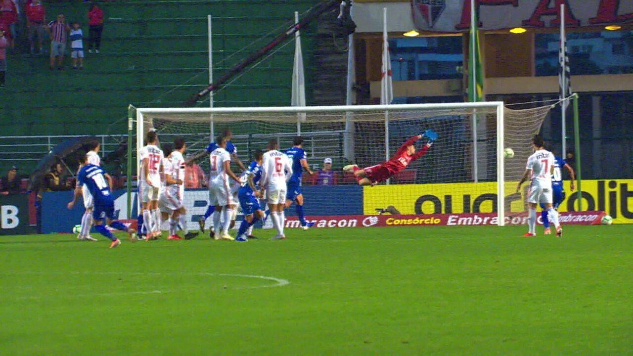 Gol do Cruzeiro! Thiago Neves empata em cobrança de falta, aos 22' do 2º tempo