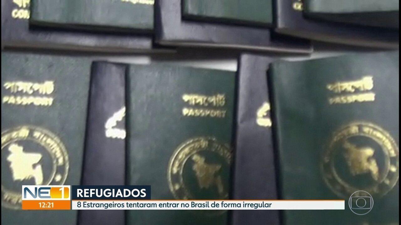 Oito cidadãos de Bangladesh tentam entrar no Brasil sem visto e são detidos pela PF