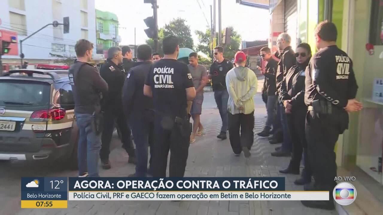 Polícia Civil, Polícia Rodoviária Federal e o Ministério Público fazem operação em BH