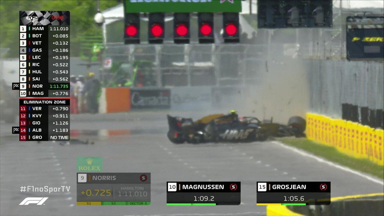 Magnussen roda e bate forte no fim do Q2 para o GP do Canadá de Fórmula 1