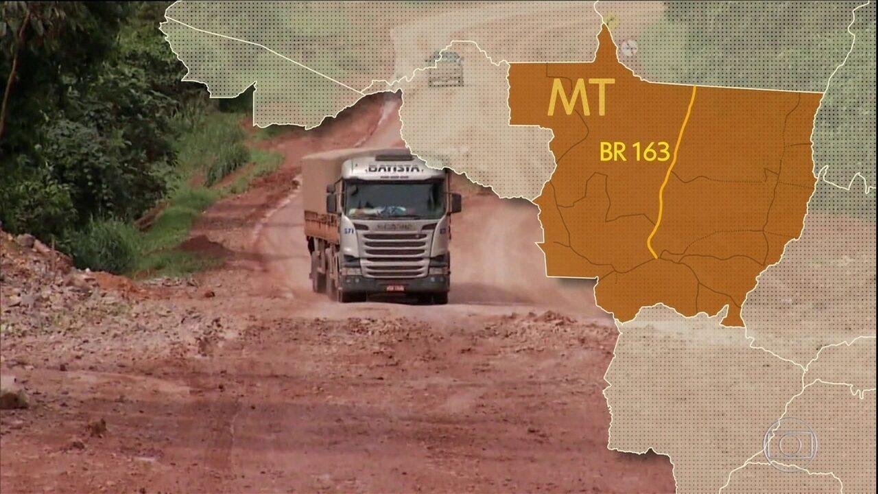 Estradas precárias dificultam avanço de cidades 'filhas da soja' em MT