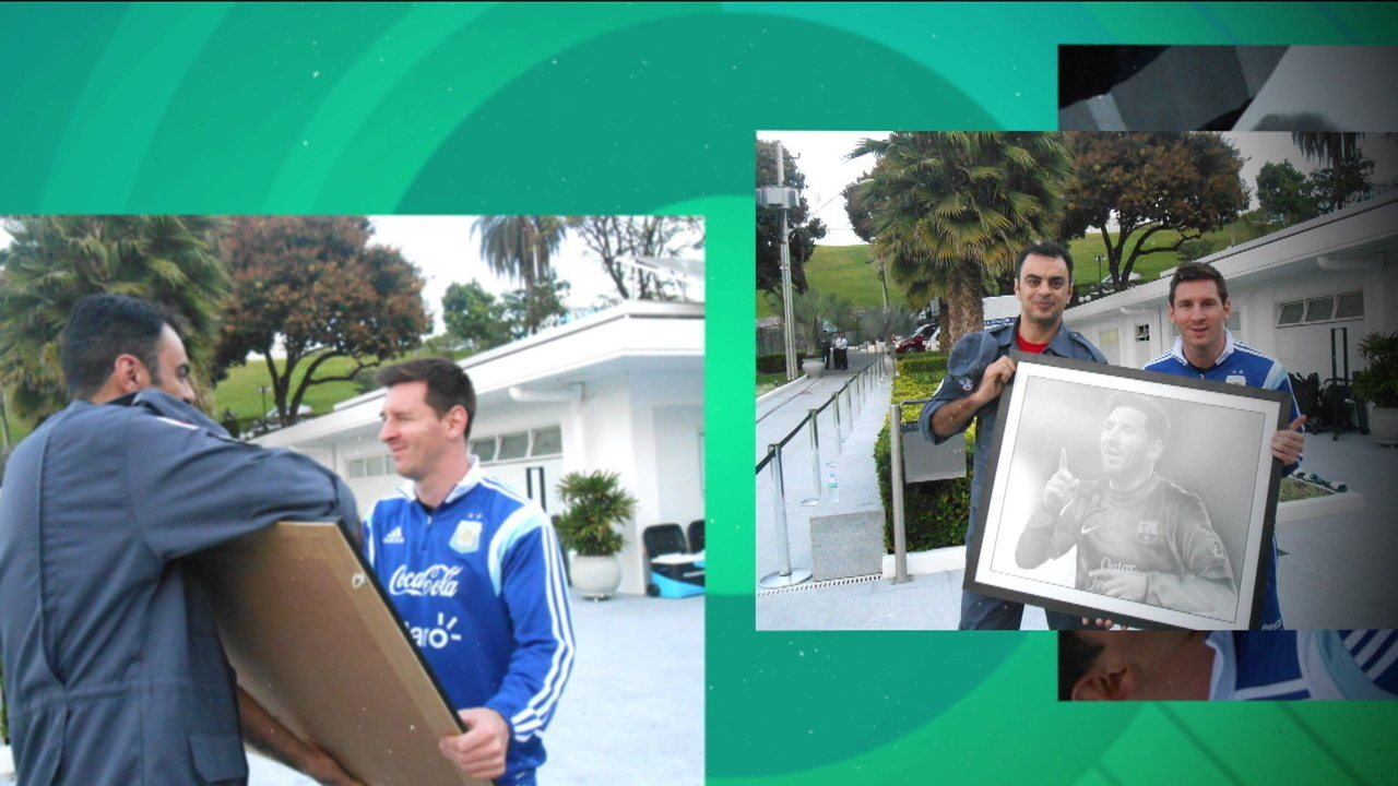 Dois artistas brasileiros contam histórias que passaram com Messi e Suárez