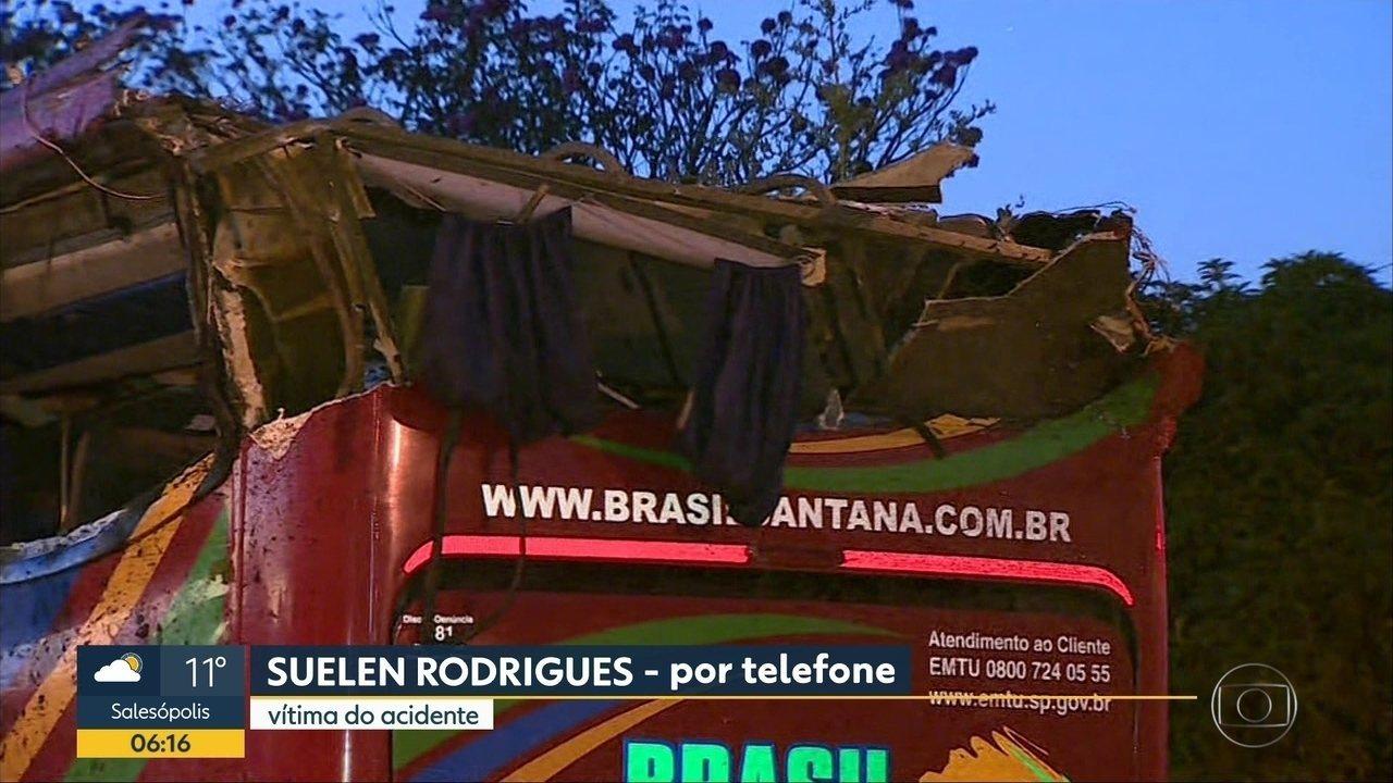 Entrevista com a sobrevivente Suellen Rodrigues Guerra do acidente com ônibus que foi Campos do Jordão