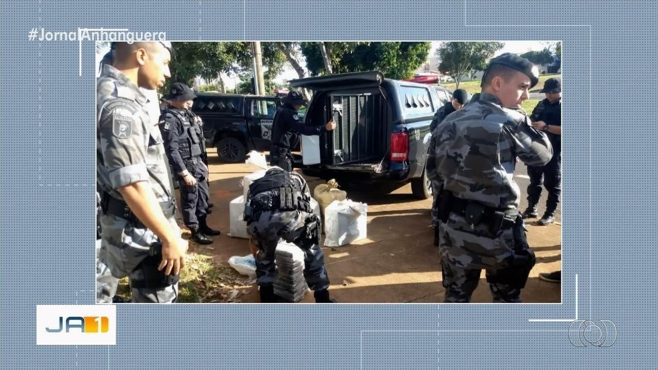 Polícia Militar apreende 400kg de cocaína transportada em ração para porcos, em Cristalina