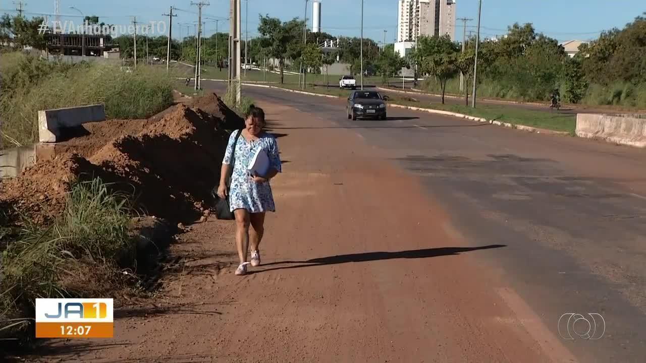 Moradores cobram solução para erosão em avenida entre as quadras 203 e 303 Norte