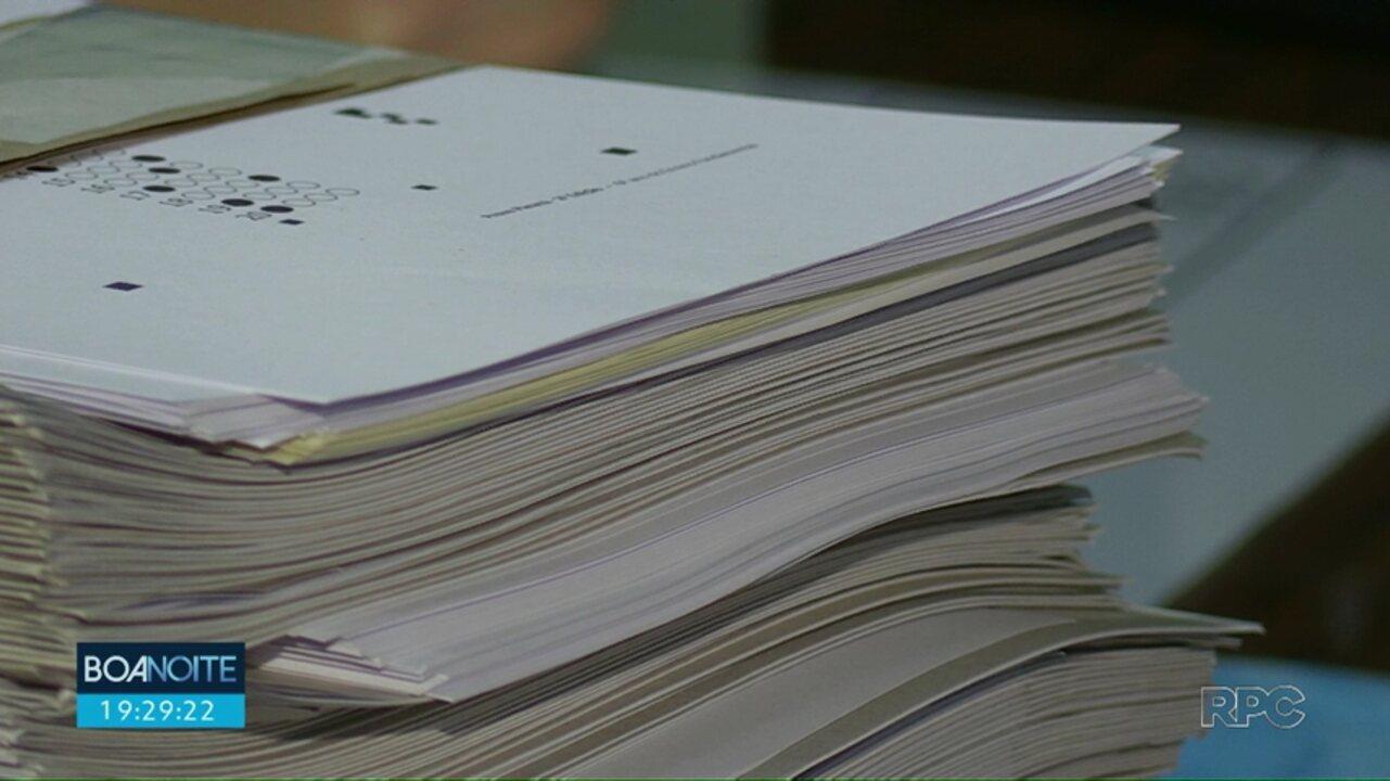 Prova Paraná tem que ser corrigida antes de ser realizada por alunos