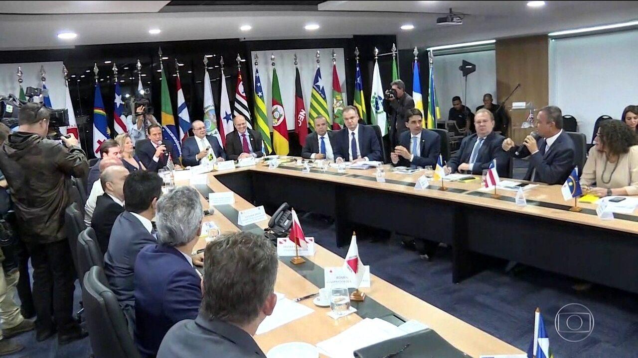 Em Brasília, governadores reforçam apoio no texto da Previdência