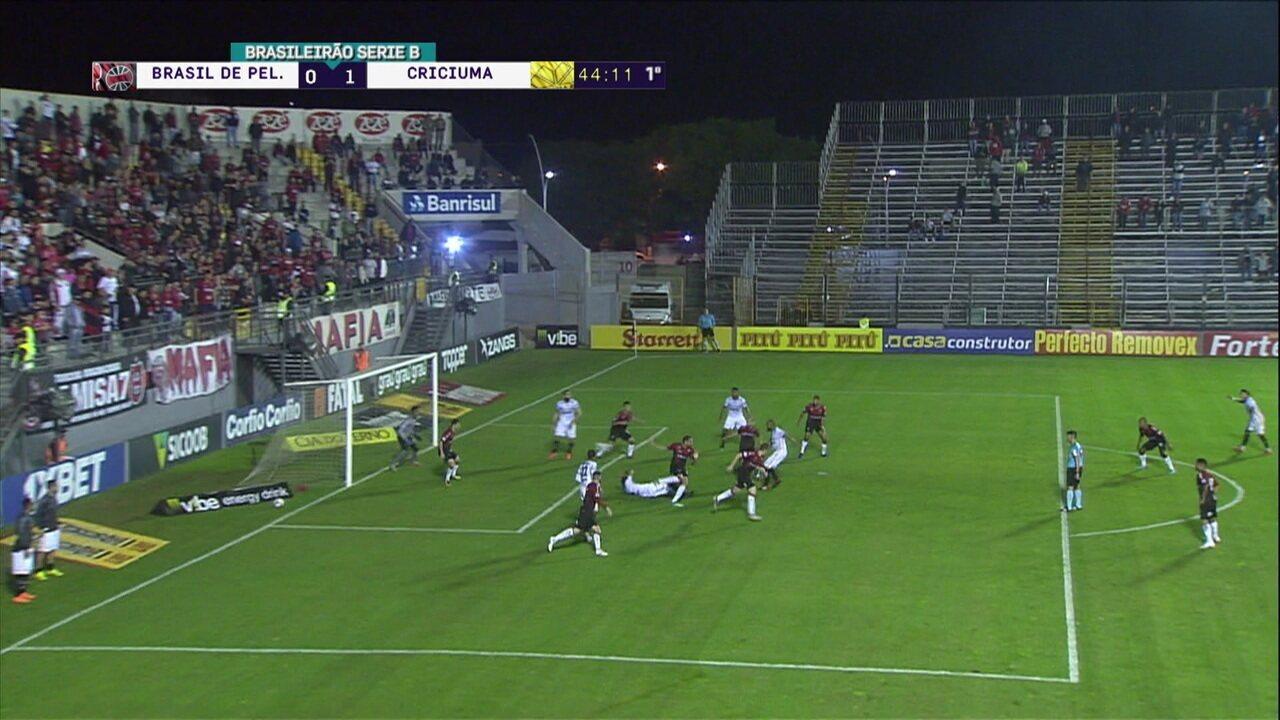 Melhores momentos: Brasil de Pelotas 0 x 1 Criciúma pela 8ª rodada do Brasileiro Série B