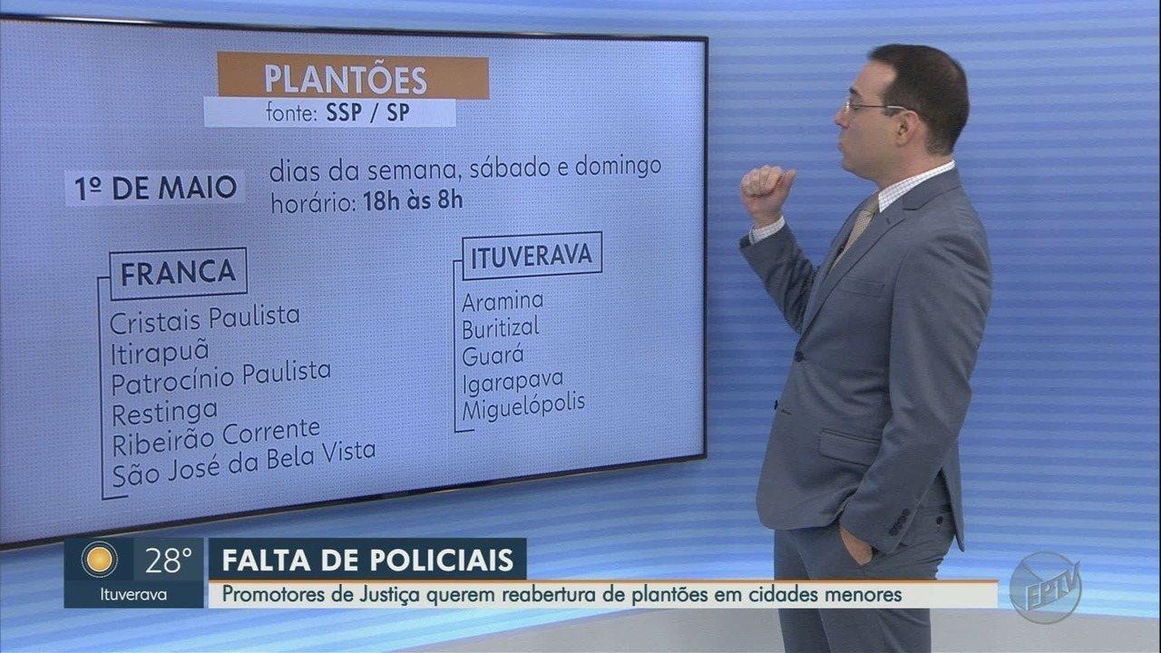 MP pede reabertura de plantões policiais à noite na região de Franca, SP