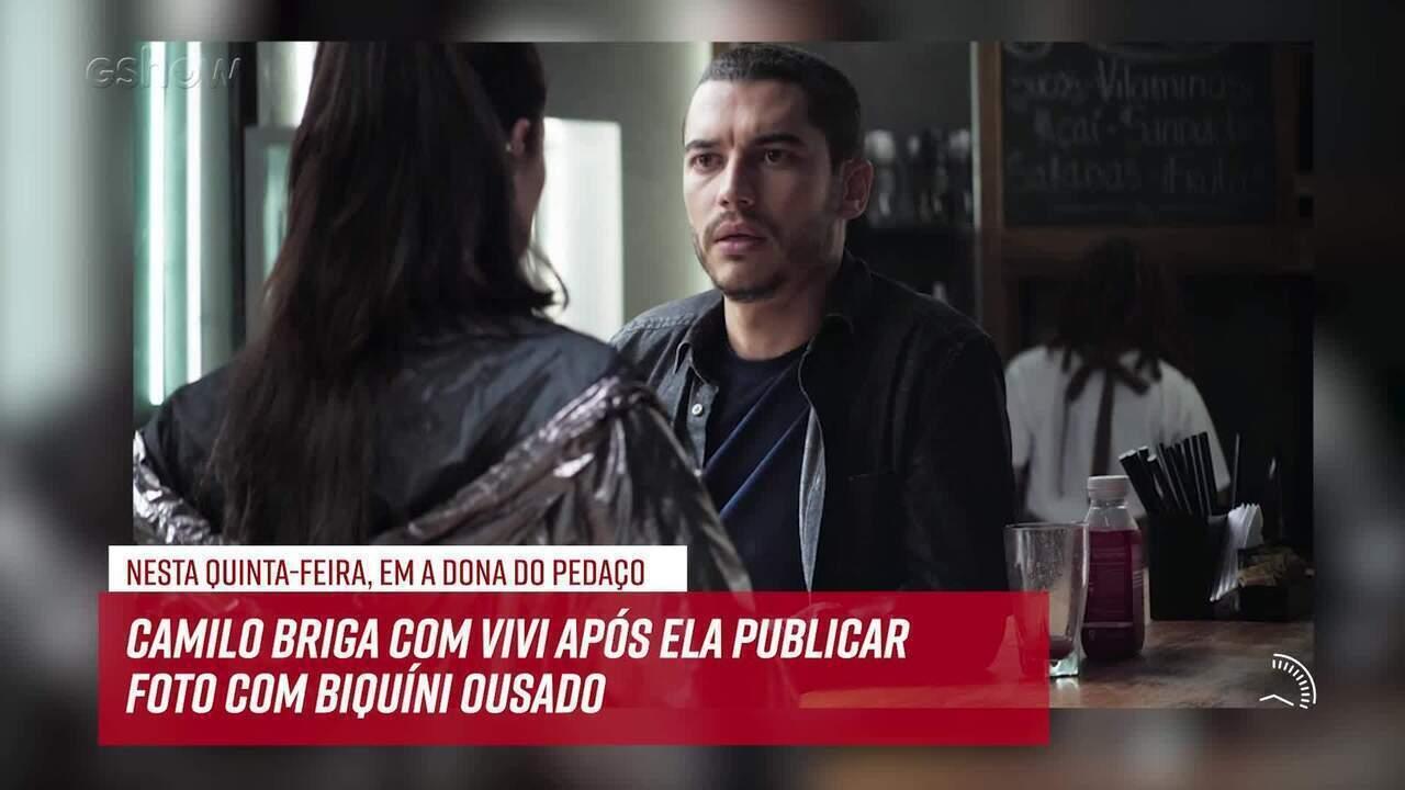 Resumo do dia - 13/06 – Camilo briga com Vivi após ela publicar foto com biquíni ousado