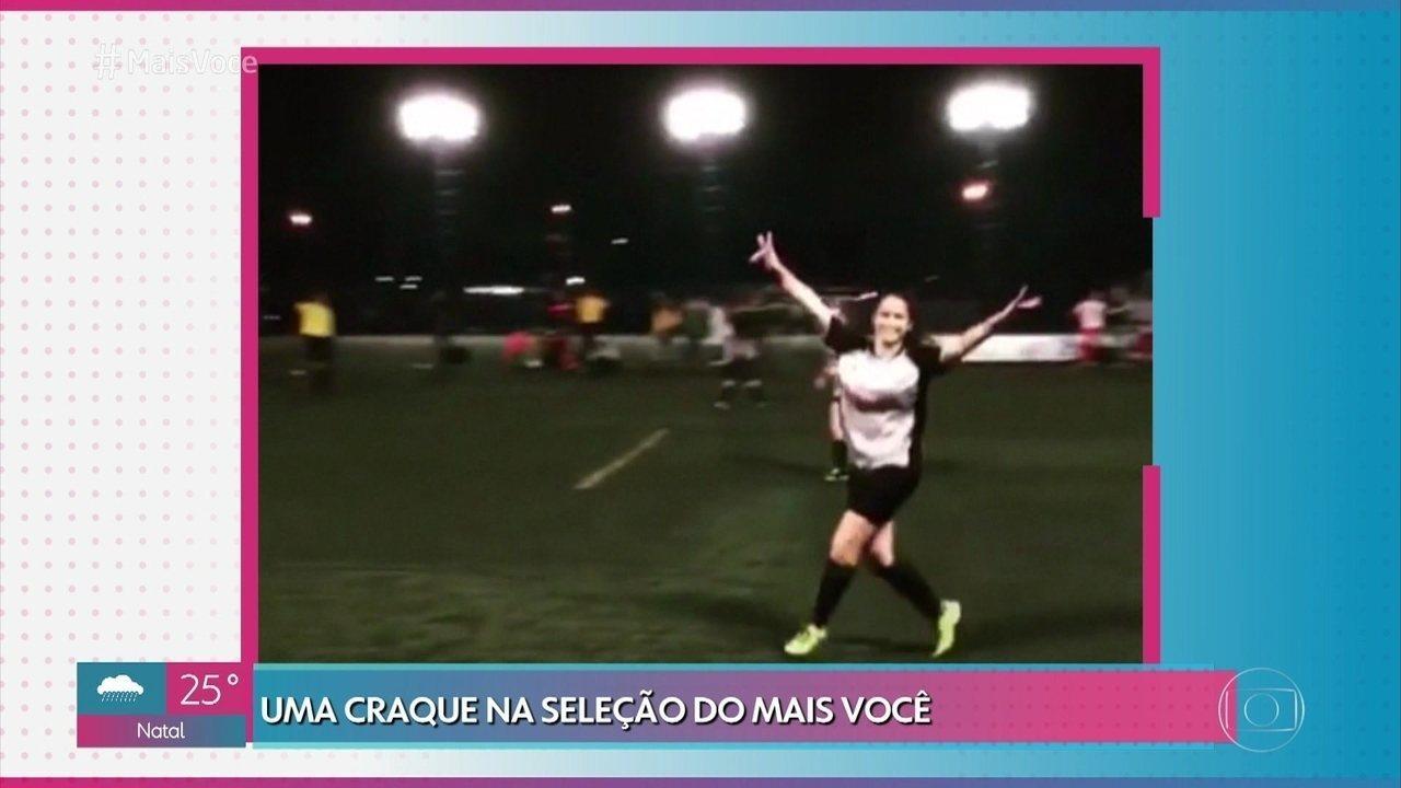 Ana Maria revela lado 'jogadora de futebol' de Mari Palma