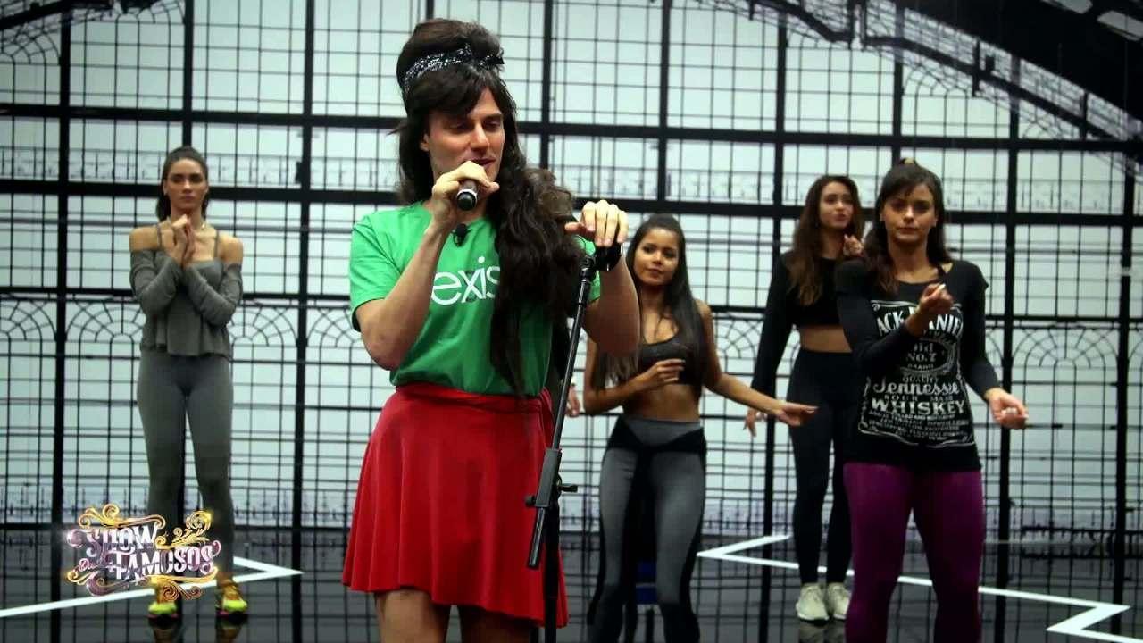 Veja a preparação de Hugo Bonemer para homenagear Amy Winehouse no 'Show dos Famosos'