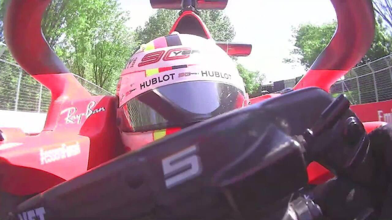 O incidente de Vettel no GP do Canadá por todos os ângulos