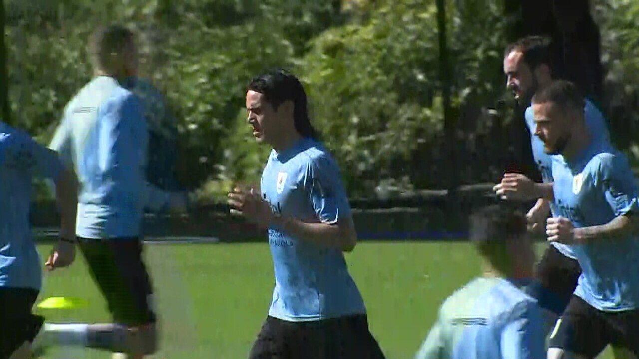 Uruguai treina no CT do Atlético-MG para estreia na Copa América contra Equador