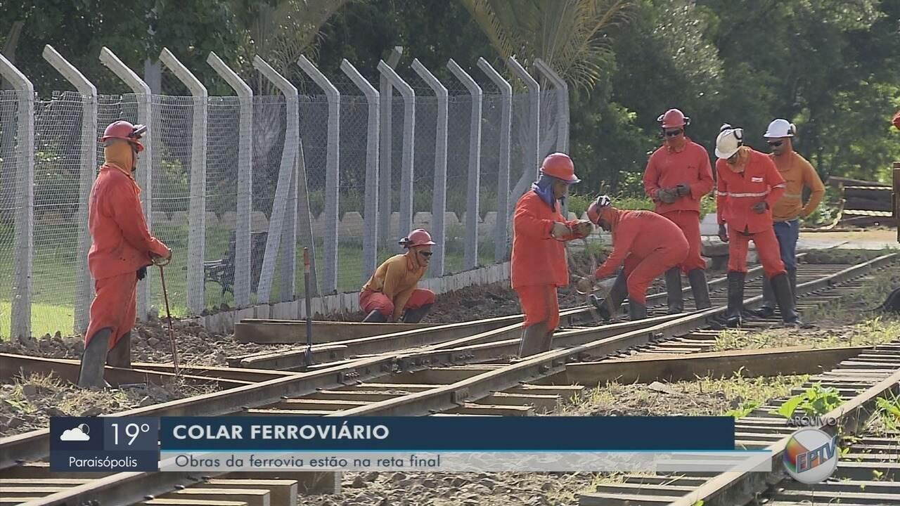 Obras que vão revitalizar linha férrea em São Sebastião do Rio Verde estão 55% prontas