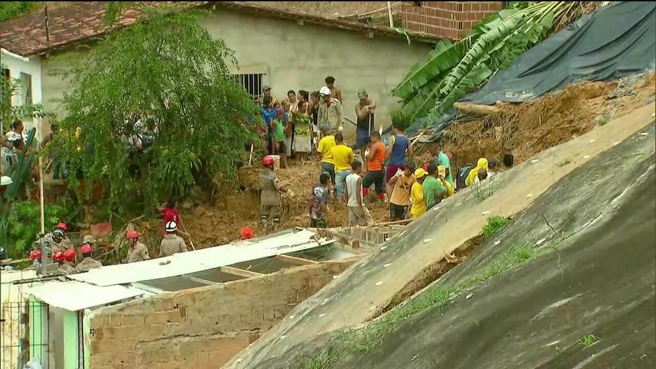 Sobe para 9 o número de mortos pela chuva em Pernambuco