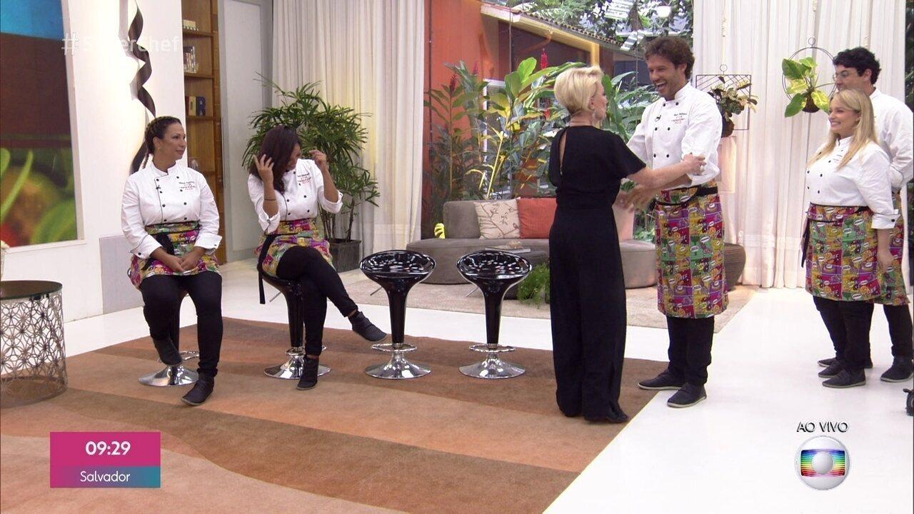 Ana Maria recebe Xande de Pilares, Bruno De Luca, Luciana Vendramini e Nando Rodrigues