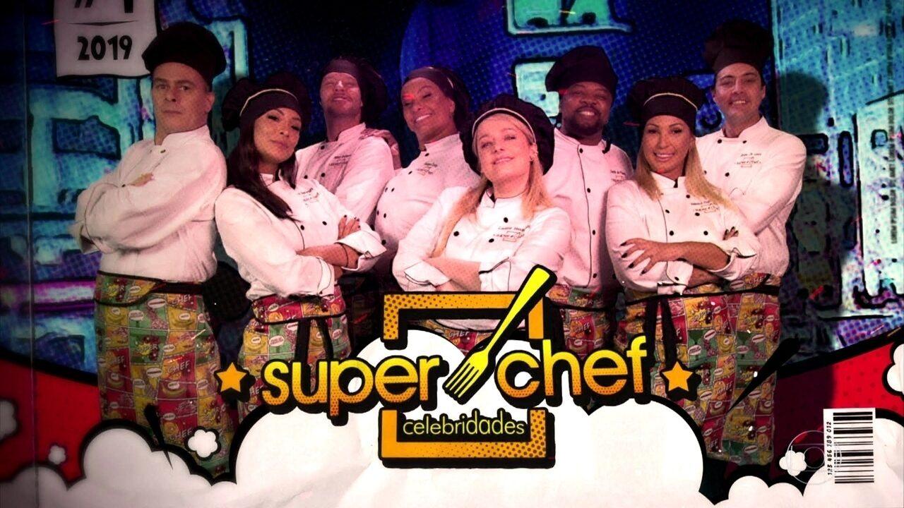 Celebridades viram heróis no avental e na vinheta do 'Super Chef Celebridades 2019'