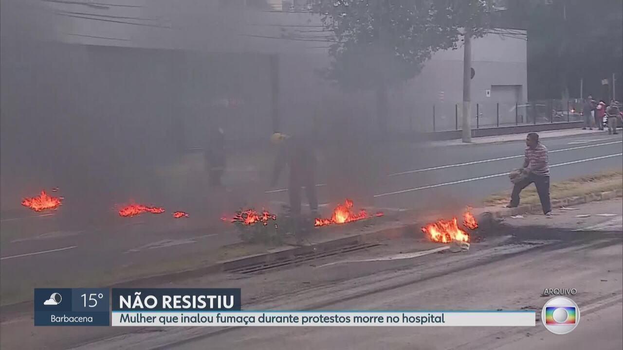 Morre mulher que inalou fumaça durante protestos em Belo Horizonte