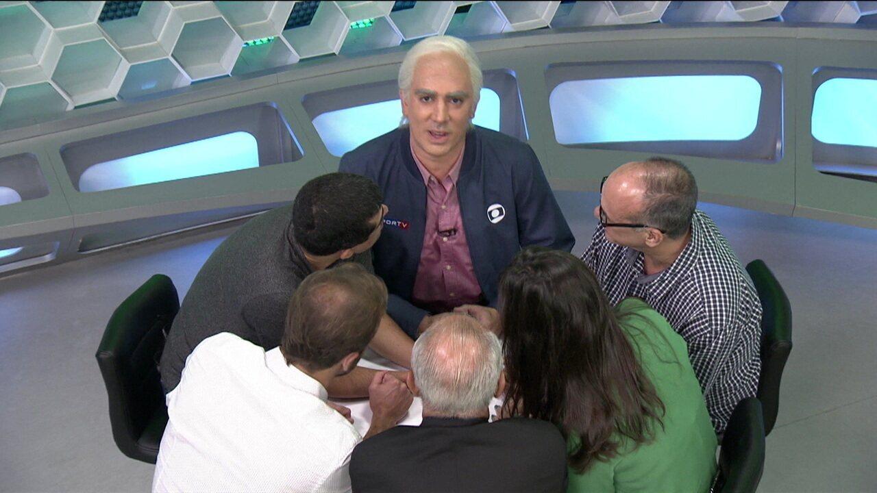 """Marcelo Adnet imita Milton Leite no comando do """"Pequeno Círculo"""""""
