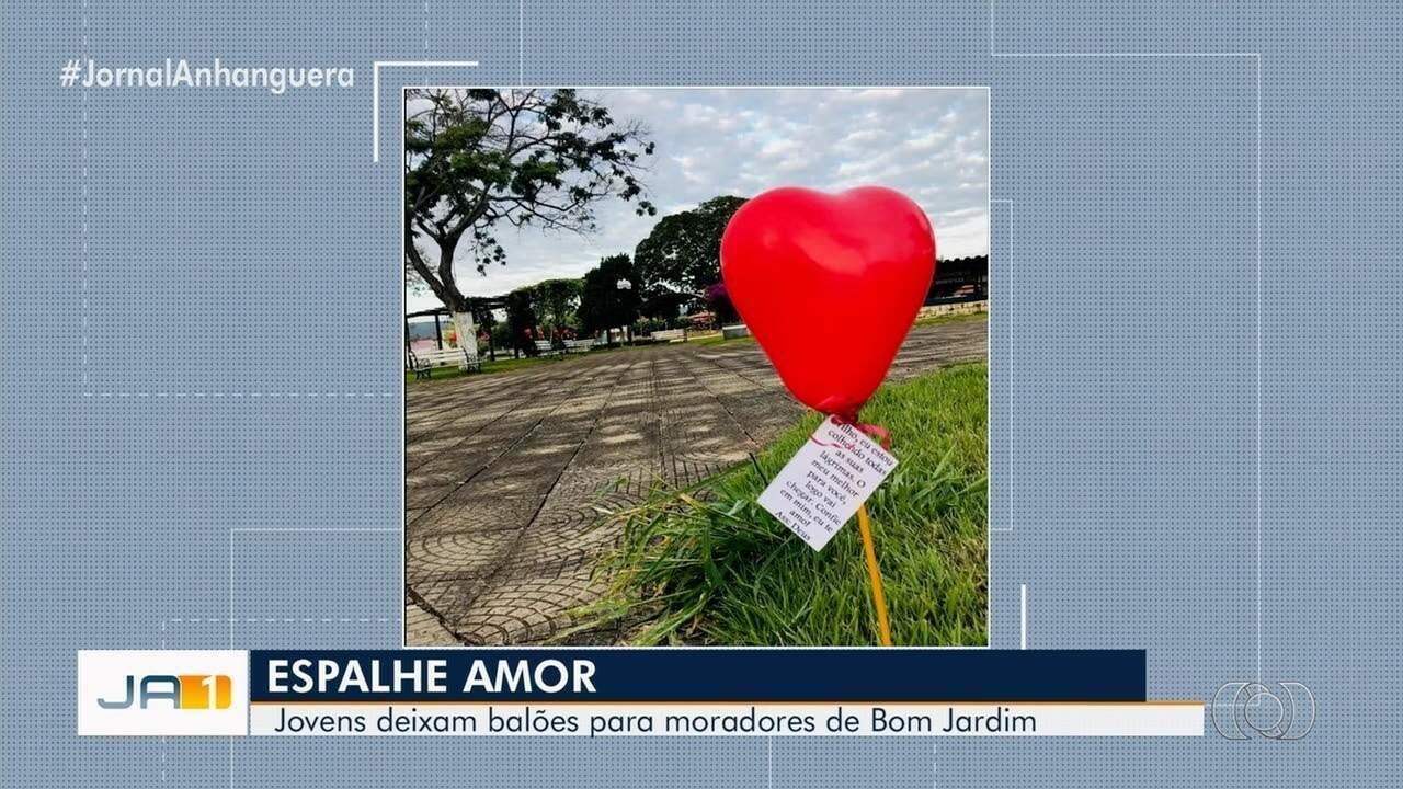Jovens Espalham 500 Balões Com Frases Inspiradoras Em Bom Jardim De Goiás