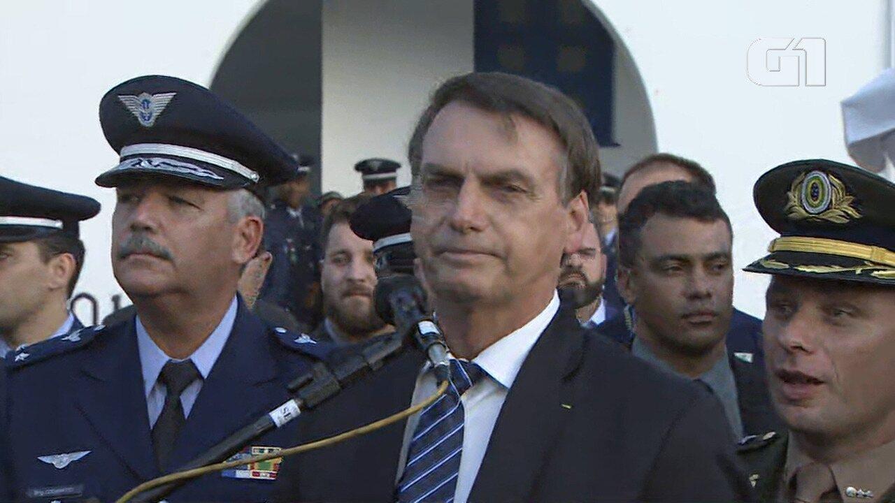 Veja declaração de Bolsonaro durante entrevista coletiva em Guaratinguetá