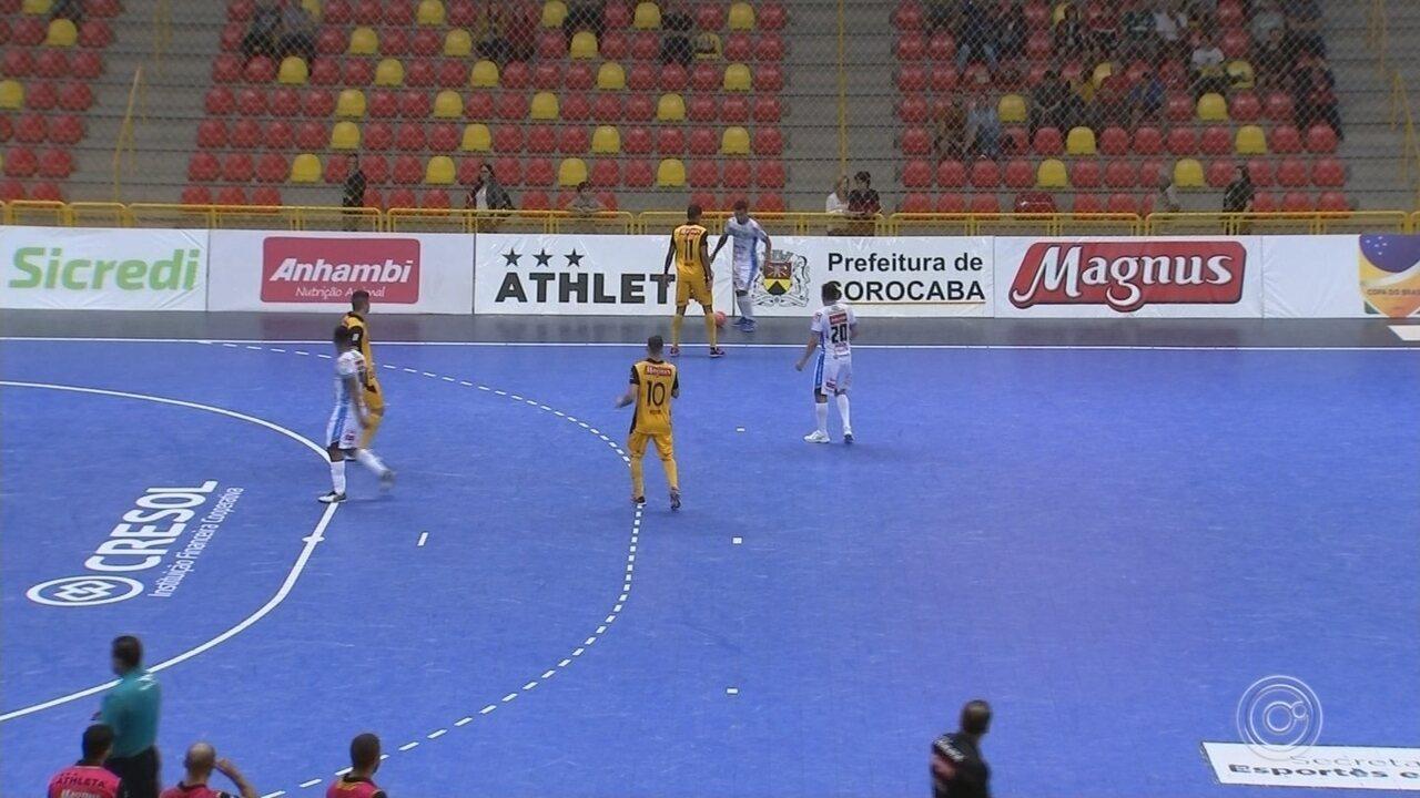 Sorocaba e Pato empatam na primeira partida da 2º fase da Copa do Brasil de futsal