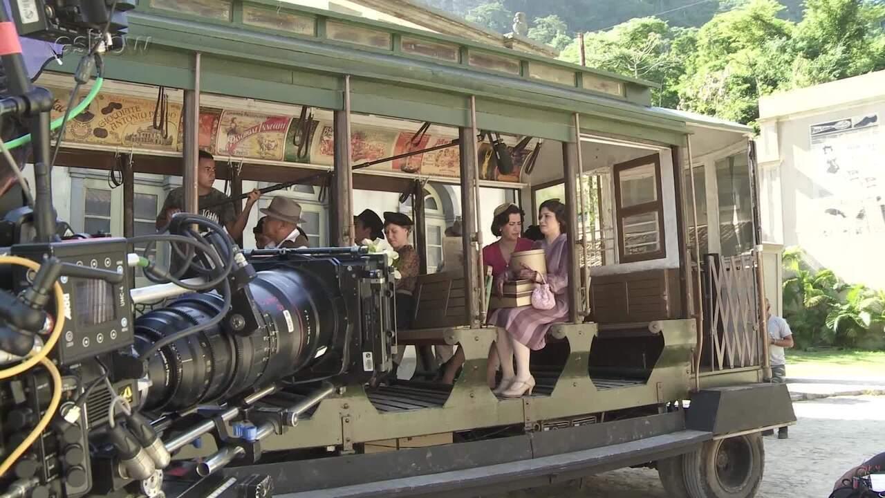 Saiba como são gravadas as cenas do bonde de 'Filhos da Pátria'