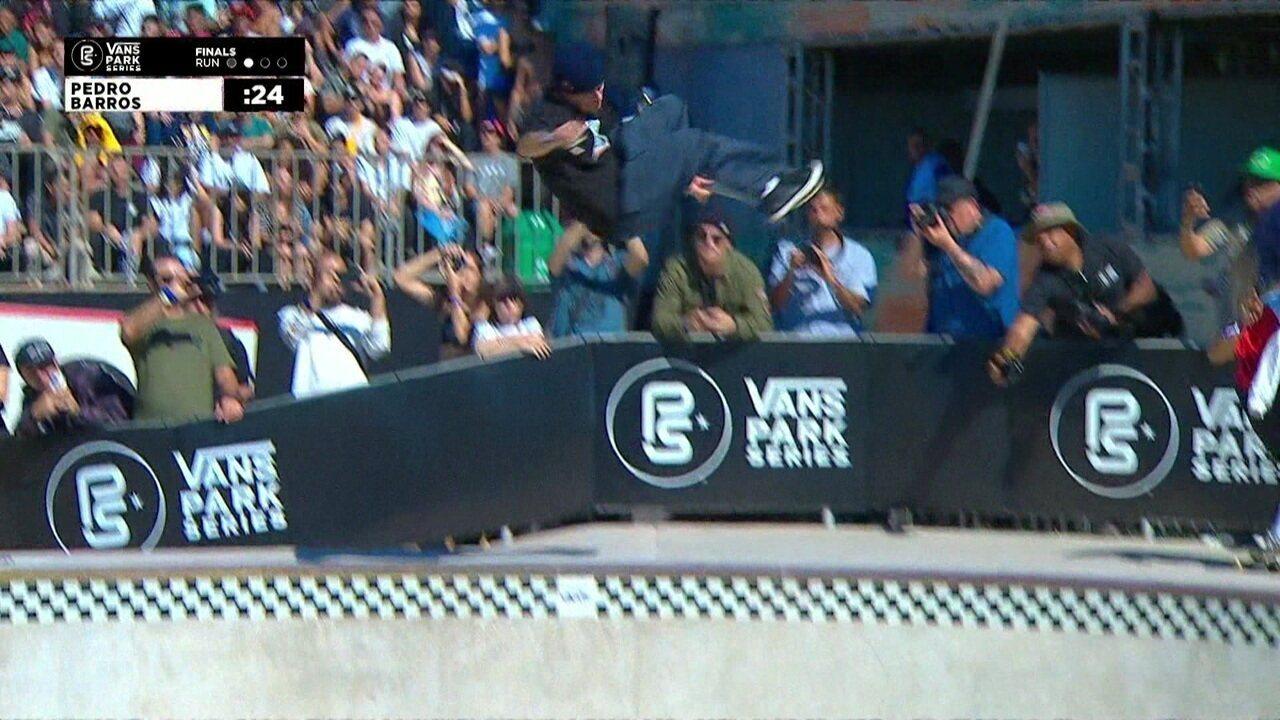 Pedro Barros tira 88,63 na segunda volta na final do Circuito Internacional de Skate Park