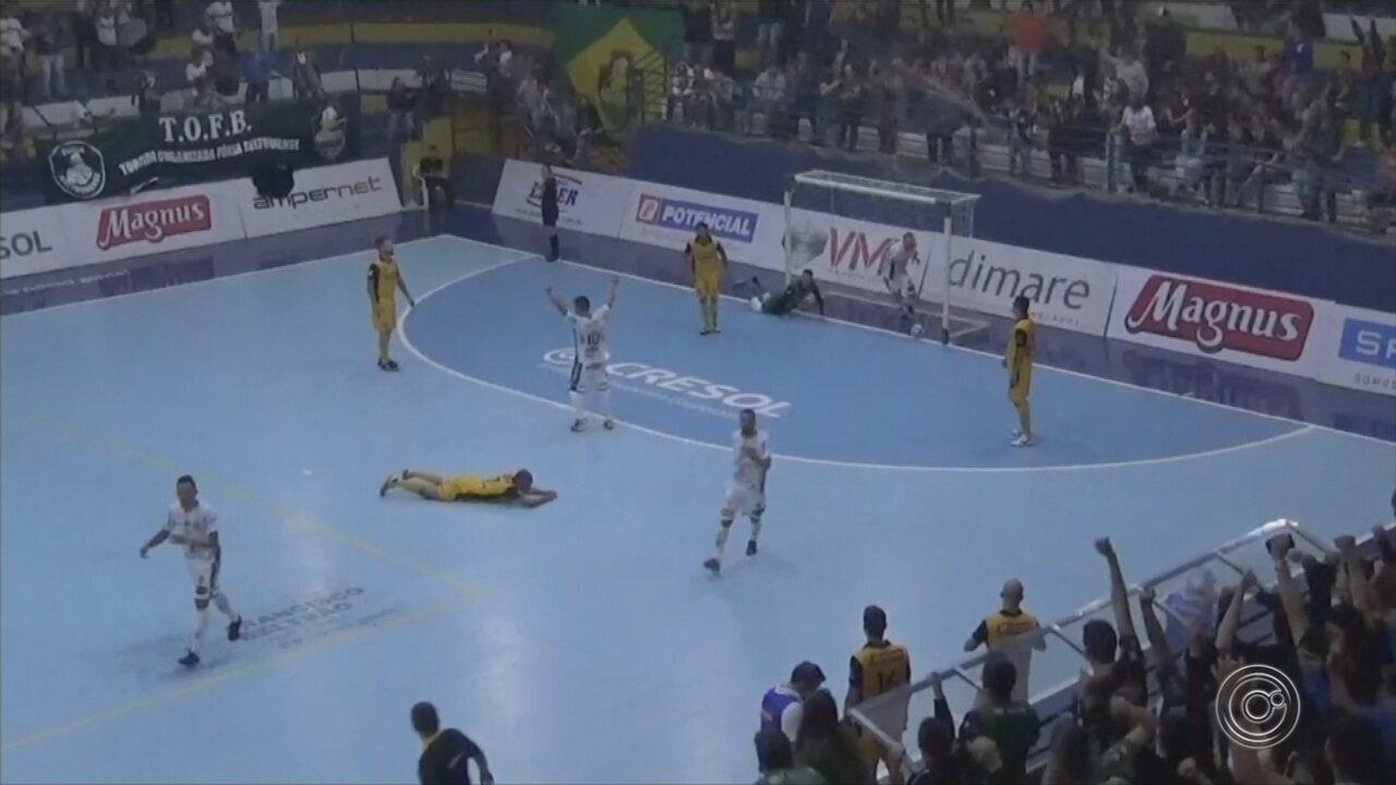 Sorocaba perde para Marreco, mas continua na liderança isolada da Liga Nacional de Futsal