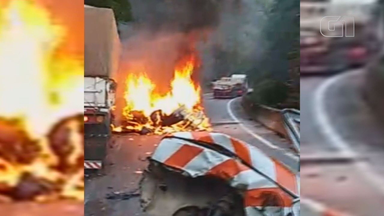 Acidente envolvendo seis veículos matou uma pessoa e deixou a Via Anchieta bloqueada