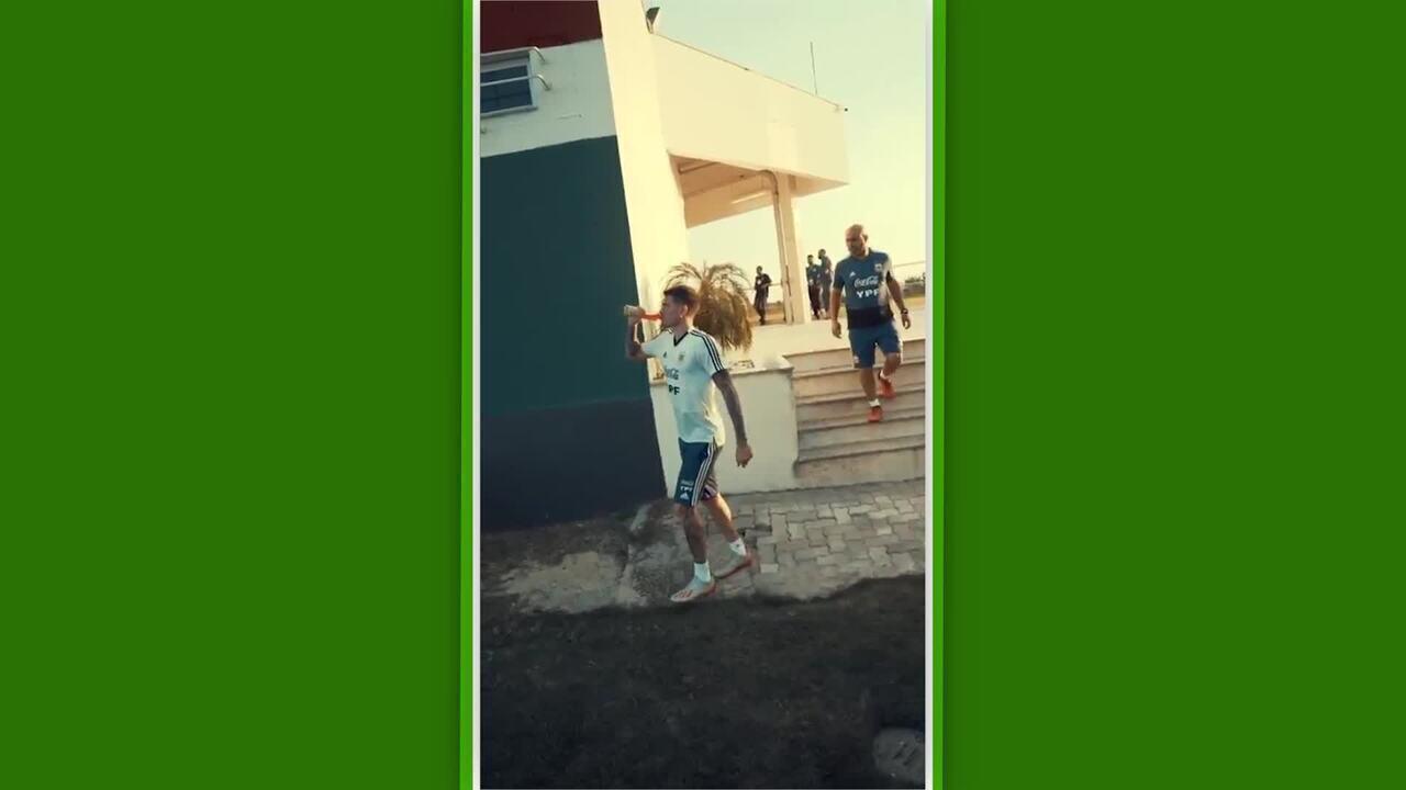 Usando CT do Fluminense, Argentina faz primeiro treino no Rio de Janeiro