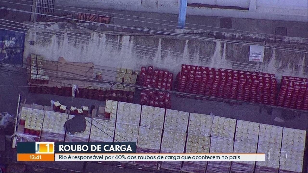 Rio é responsável por 40% dos roubos de carga que acontecem no país