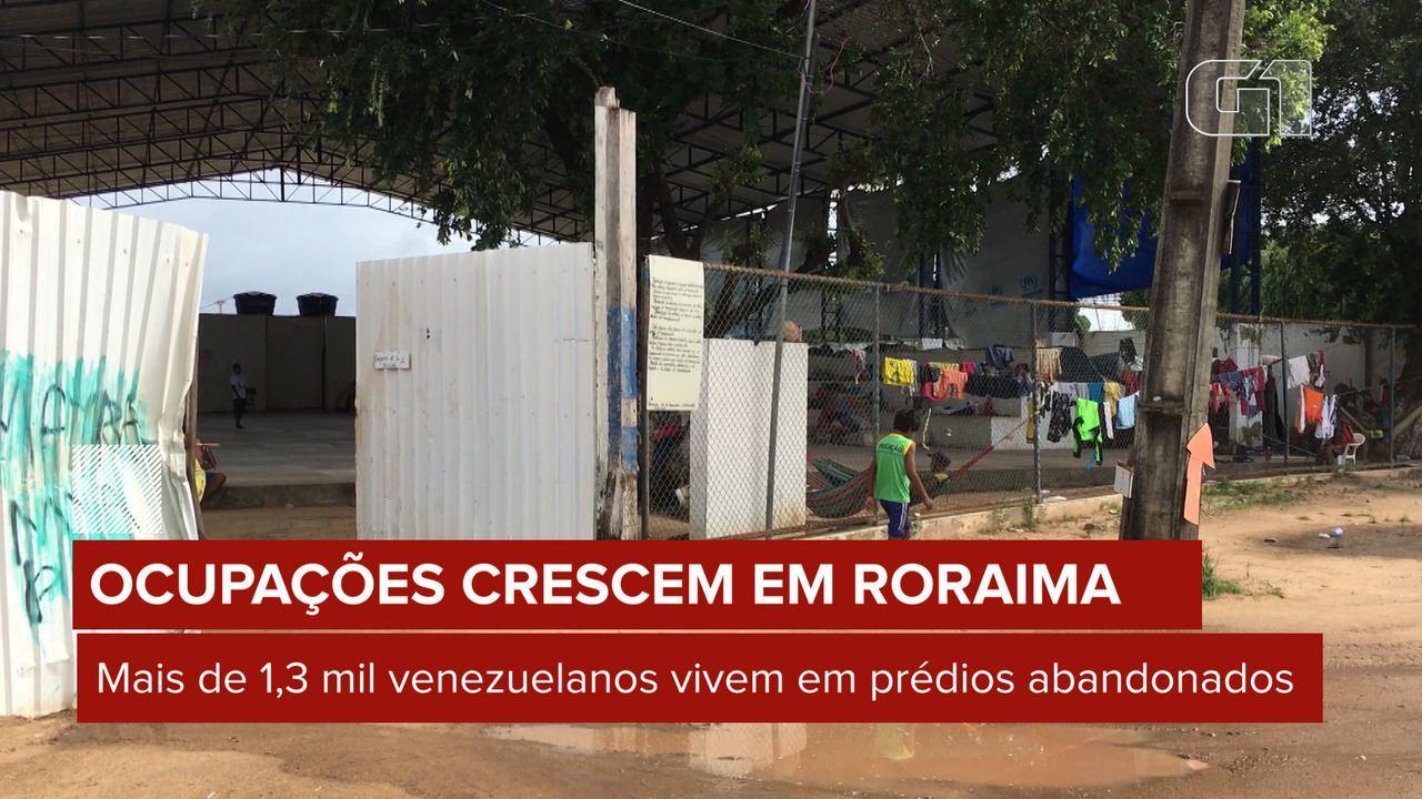Mais de 1.300 imigrantes vivem em prédios públicos abandonados de Boa Vista