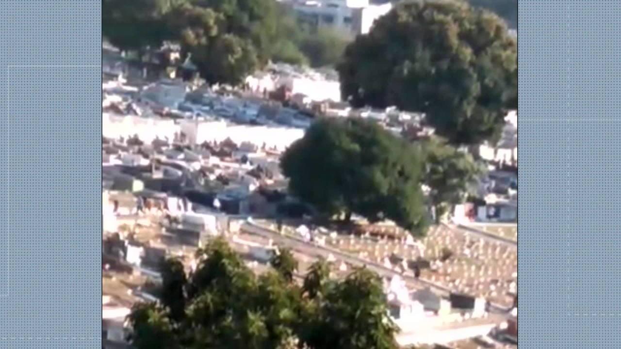Enterro de traficante Fernandinho Guarabu é marcado por confusão