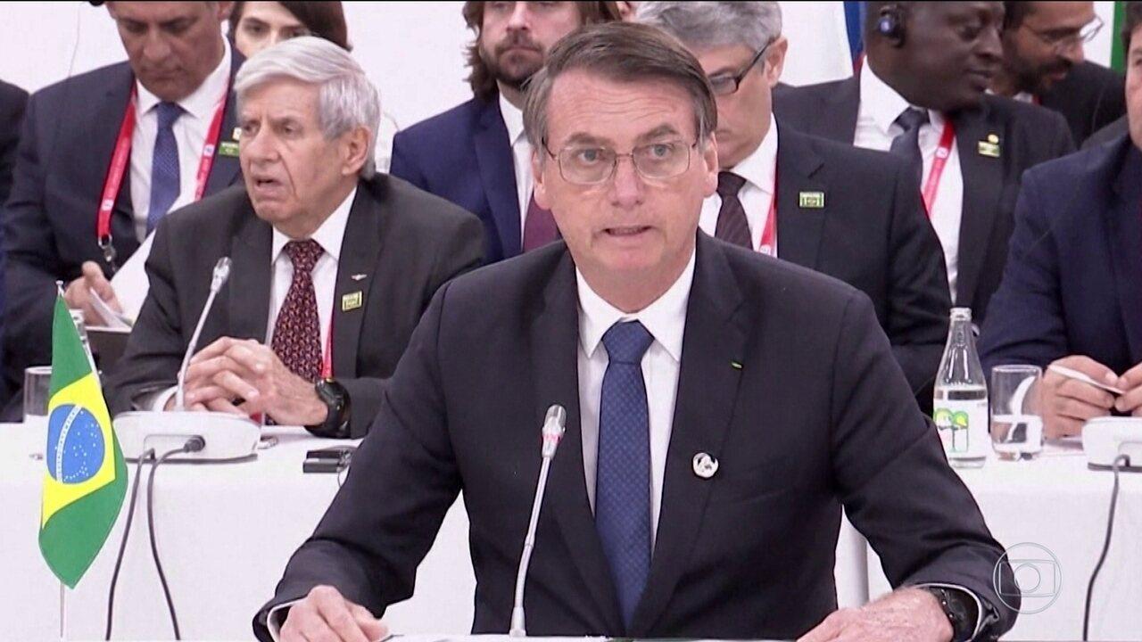 No G20, Bolsonaro diz que Brasil permanece no Acordo do Clima de Paris
