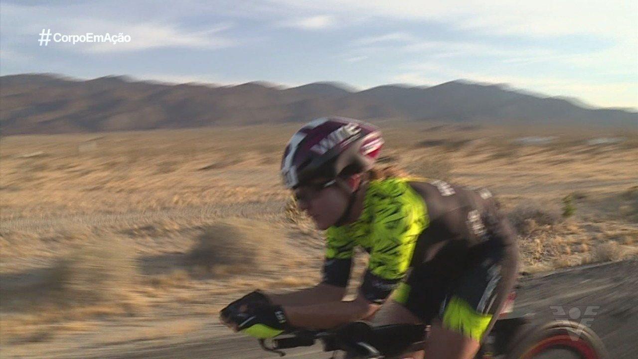 Rosecler Costa, a Ironmãe, se garante na maior prova de ciclismo do mundo