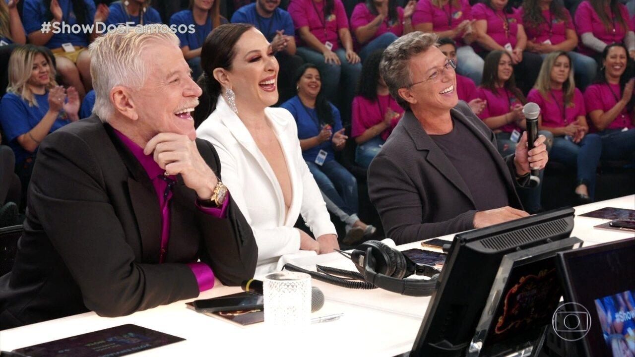 Jurados comentam apresentação de Solange Almeida no 'Show dos Famosos'