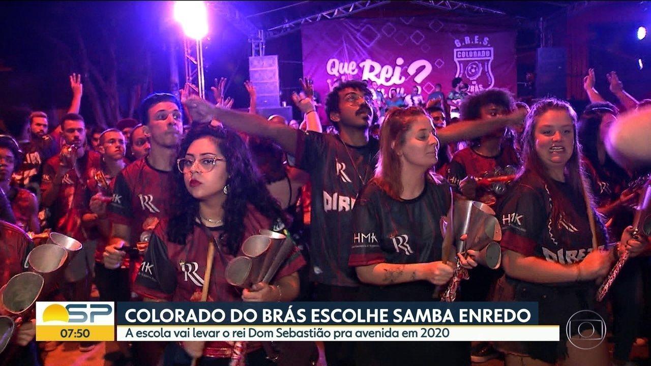 Colorado do Brás escolhe o samba-enredo 2020